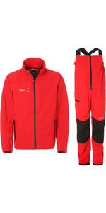 2019 Slam WIN-D Sailing Jacket & Trouser Combi Set - Red