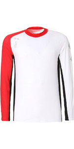 2019 Slam WIN-D Breeze LS Tech Shirt White / Red S112477T00