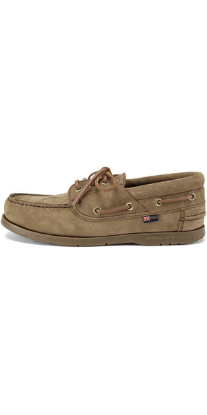 2019 Henri Lloyd Solent Deck Shoe Brown Nubuck / Caramel F944152