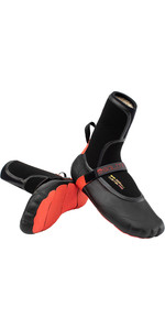 2021 Solite Custom Fire 8mm Wetsuit Boots 21012 - Black / Red