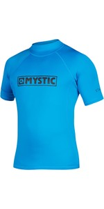 2021 Mystic Star Junior S / S Rash Vest 35401.18012 - Blue