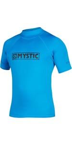 2020 Mystic Star Junior S / S Rash Vest 35401.18012 - Blue