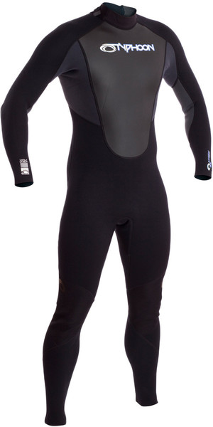 2018 Typhoon Storm 5/4/3mm GBS Wetsuit Black / Grey 250662
