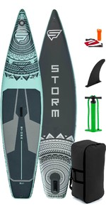 2021 Storm Tourer 11'6 Inflatable Stand Up Paddle Board Package - Board, Bag, Pump - Aqua