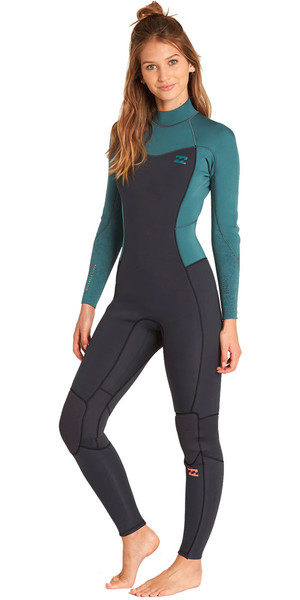 2018 Billabong Womens Furnace Synergy 4/3mm Back Zip Wetsuit Sugar Pine L44G04