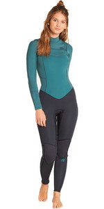 2019 Billabong Womens Furnace Synergy 4/3mm Chest Zip Wetsuit Sugar Pine L44G03