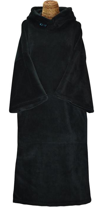 2021 TLS Hooded Change Robe Poncho - Black