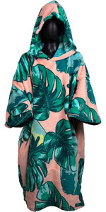 2019 TLS Hooded Poncho / Change Robe Pink Leaf