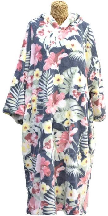 2021 TLS Kids Hooded Change Robe Poncho 120cm - Flower