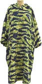 2021 TLS Kids Hooded Change Robe Poncho 120cm - Tiger Camo