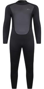 2021 Typhoon Mens Storm5 5/4mm Back Zip Wetsuit 251000 - Black