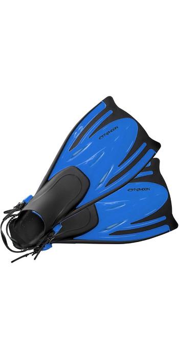 2020 Typhoon Adult T-Jet Fins Blue 330183