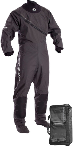 2019 Typhoon Ezeedon 3 Front Zip Drysuit Grey Including Kit Bag 100158