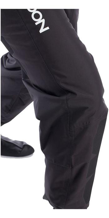 2020 Typhoon Hypercurve 4 Back Zip Drysuit & Underfleece Black / Blue 100169