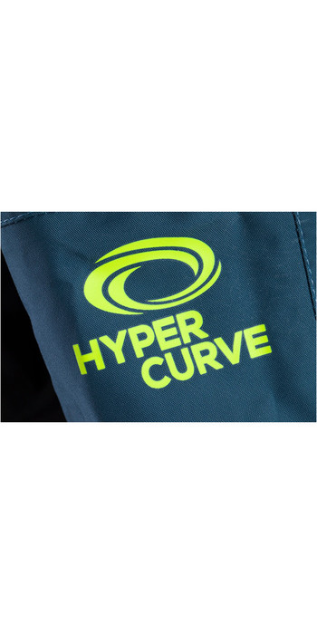 2020 Typhoon Hypercurve 4 Back Zip Drysuit with Socks & Underfleece Teal / Grey 100170