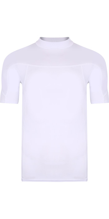 2021 Typhoon Junior Fintra Short Sleeve Rash Vest 430472 - White
