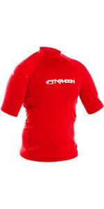 2019 Typhoon Junior Short Sleeve Rash Vest Rich Red 430072