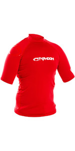 2019 Typhoon Junior Short Sleeve Rash Vest Rich Red 430072