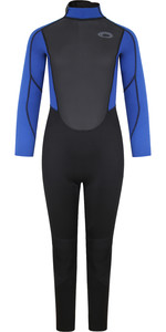 2021 Typhoon Junior Storm3 3/2mm Back Zip Wetsuit 25092 - Black / Nite Blue
