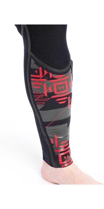 2020 Typhoon Kona 5/4mm GBS Chest Zip Wetsuit 250612 - Black / Red