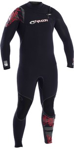 2020 Typhoon Kona 5/4mm GBS Chest Zip Wetsuit 250612 - Black / Red