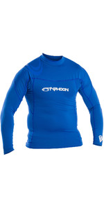 2019 Typhoon Mens Long Sleeve Rash Vest Blue 430013