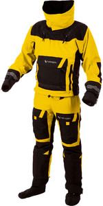 2019 Typhoon PS330 Xtreme Kayak / Ocean Drysuit + Con Zip Yellow / Black 100160
