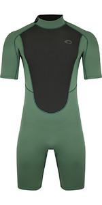 2021 Typhoon Mens Storm3 3/2mm Shorty Wetsuit 250796 - Black Green