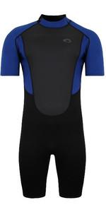 2021 Typhoon Mens Storm3 3/2mm Back Zip Wetsuit 25077 - Black / Nite Blue