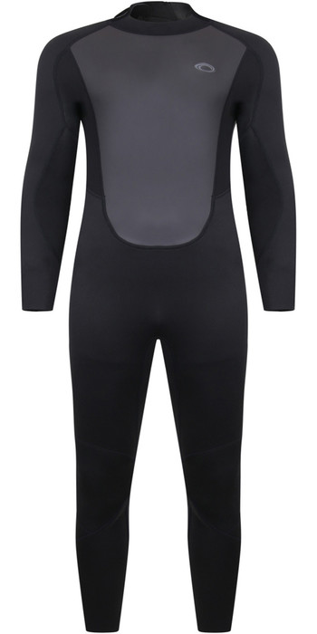 2021 Typhoon Mens Storm3 3/2mm Back Zip Wetsuit 25077 - Black / Graphite