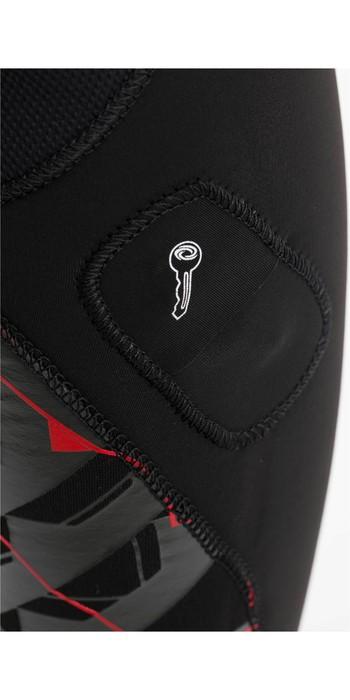 2020 Typhoon Mens Vortex 4/3mm GBS Chest Zip Wetsuit 250695 - Black / Cardinal