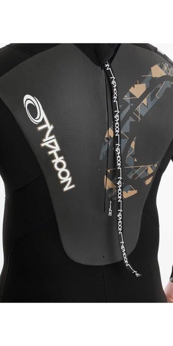 2020 Typhoon Mens Vortex 5/4mm GBS Back Zip Wetsuit 250654 - Black / Gold