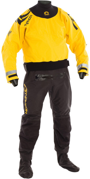 2018 Typhoon Multisport 5 Hinge Drysuit + CON ZIP BLACK / YELLOW 100165