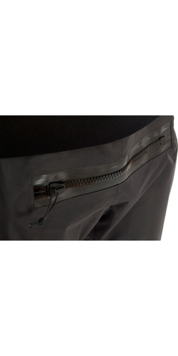 2020 Typhoon Multisport 5 Hinge Drysuit Including Con Zip & Underfleece BLACK / YELLOW 100165