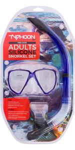 Typhoon Pro Adult Silicone Mask & Snorkel Set 320382