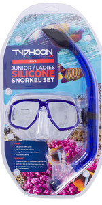 2019 Typhoon Pro Junior / Ladies Snorkelling Set Blue 320287