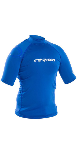 2018 Typhoon Short Sleeve Rash Vest Aqua Blue 430023