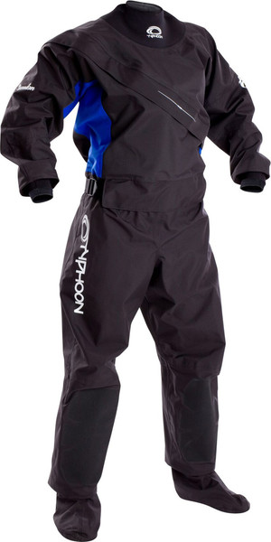 2019 Typhoon Womens Ezeedon 3 Front Zip Drysuit Black / Blue 100159