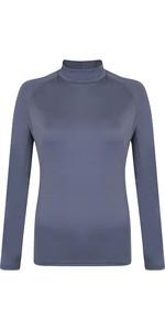 2021 Typhoon Womens Fintra Long Sleeve Rash Vest 430441 - Graphite
