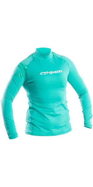 2019 Typhoon Womens Long Sleeve Rash Vest Aqua Green 430033