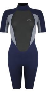 2021 Typhoon Womens Storm3 3/2mm Shorty Wetsuit 25089 - Navy / Grey Marl