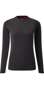 2019 Gill Womens Long Sleeve UV Tec Tee Charcoal UV011W
