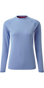 2019 Gill Womens Long Sleeve UV Tec Tee Blue UV011W