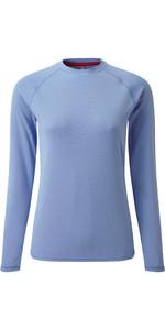 2019 Gill Womens Long Sleeve UV Tec Tee Blue UV011W