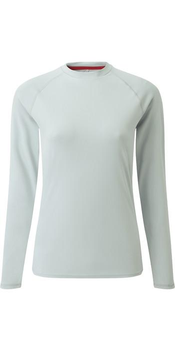 2021 Gill Womens Long Sleeve UV Tec Tee Grey UV011W