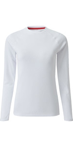 2021 Gill Womens Long Sleeve UV Tec Tee White UV011W
