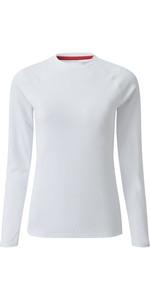 2020 Gill Womens Long Sleeve UV Tec Tee White UV011W