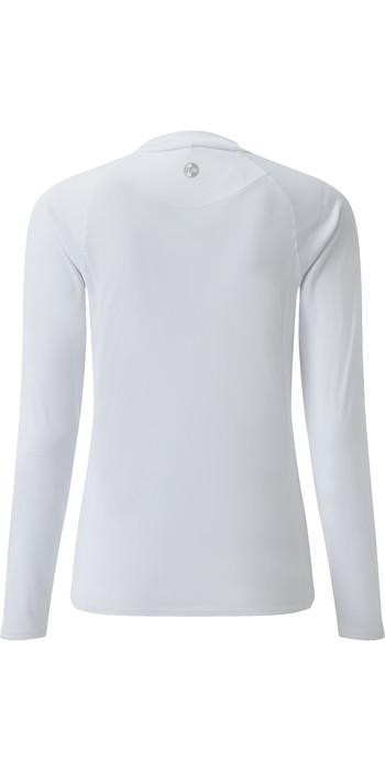 2021 Gill Womens Long Sleeve UV Tec Tee White UV011W