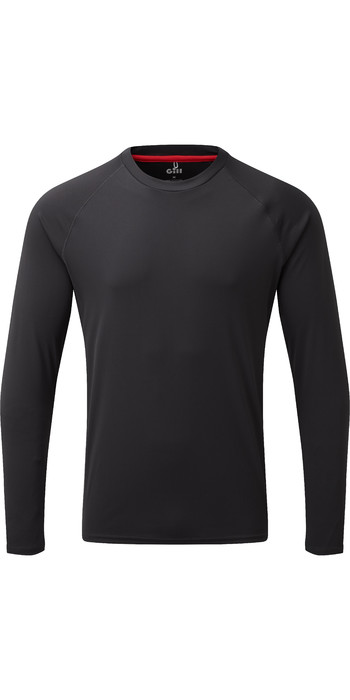2020 Gill Mens Long Sleeve UV Tec Tee Charcoal UV011