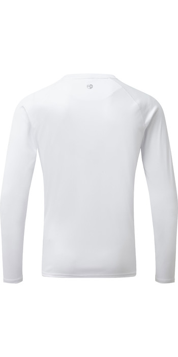 2020 Gill Mens Long Sleeve UV Tec Tee White UV011